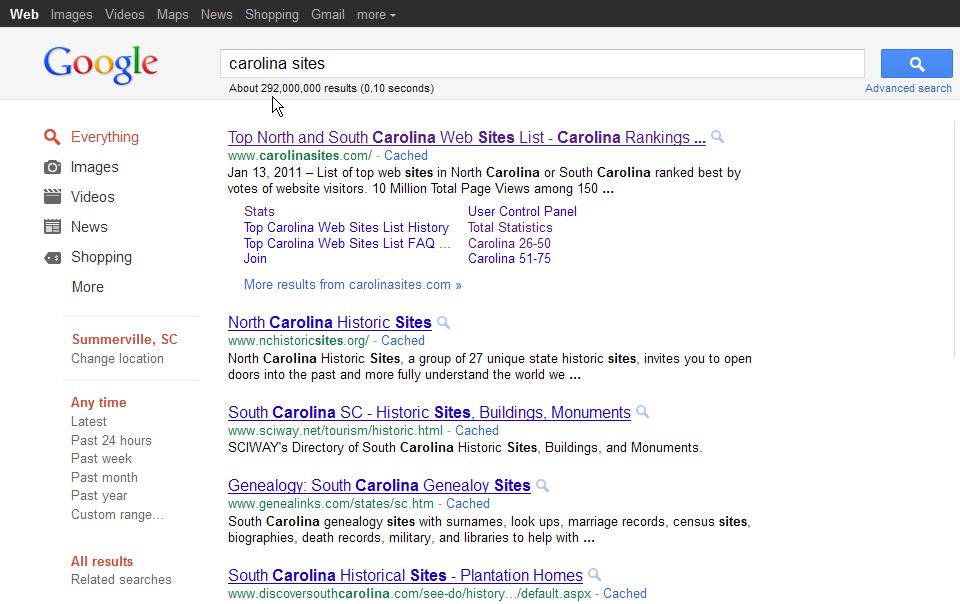 images sites list. among Members of The Top North and South Carolina Web Sites List!